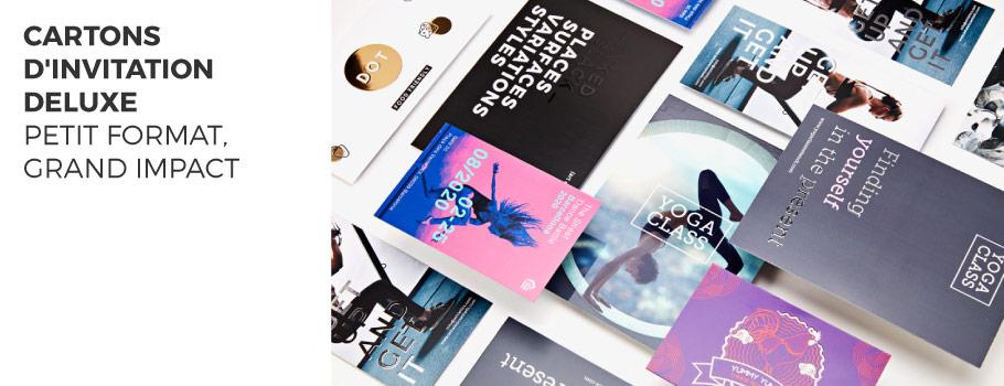 Cartons d'invitation Deluxe