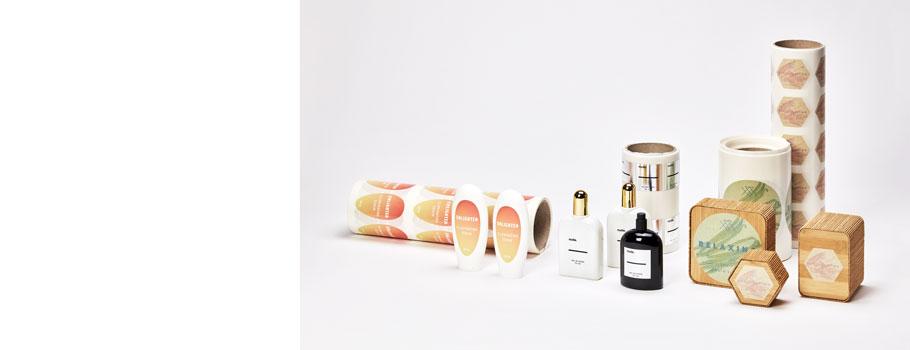 Etiquetas para cosméticos e produtos de cuidado pessoal