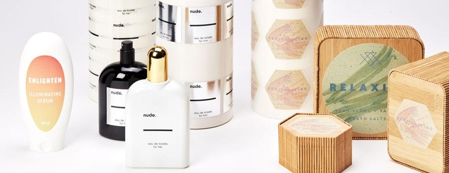 Étiquettes pour produits de cosmétique et d'hygiène personnelle