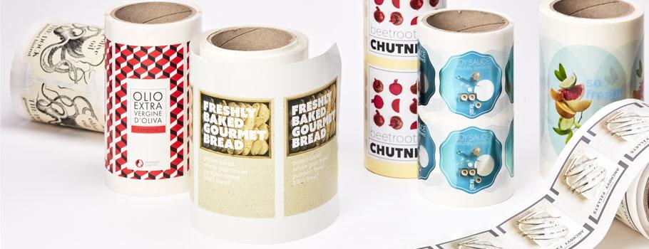 Pegatinas para packaging alimentario