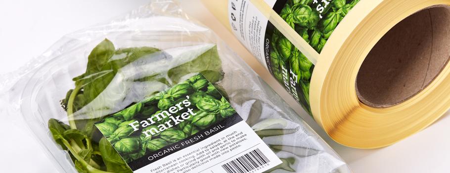Étiquettes pour emballages alimentaires