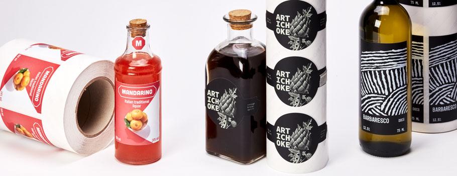 Étiquettes adhésives pour vins et liqueurs