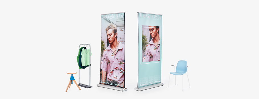 Roll-up deluxe de doble cara