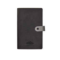 Caderno em Vivella com fecho de botão