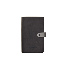 Small notepad with Vivella cover and button fastening