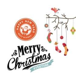 Adesivos decorativos natalícios