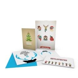 Cartões desdobráveis natalícios