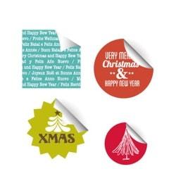 Stickers natalícios