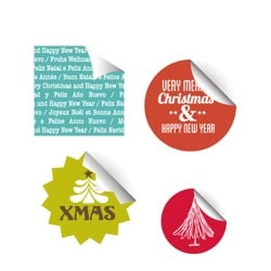 Etiketter med julmotiv