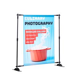 Display met verstelbaar frame