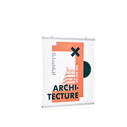Roll-up banner frame