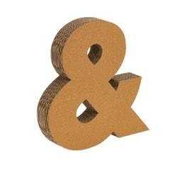 Buchstaben aus Pappe