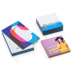Tarjetas de visita con bordes de colores
