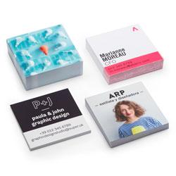 Vierkante visitekaartjes