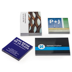 Cartões de visita plastificados
