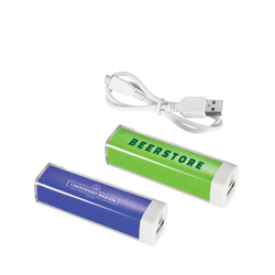 Kunststoff-Powerbanks 2200 mAh Flash