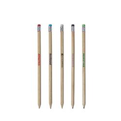 Crayon à papier en bois avec gomme colorée Cay