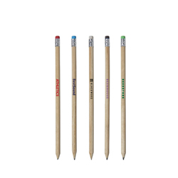 Houten potlood met gekleurde gum Cay