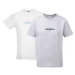 T-shirt homem Russell